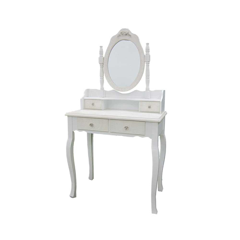 spiegel schminktisch in shabby chic wei landhaus look. Black Bedroom Furniture Sets. Home Design Ideas