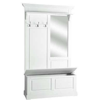 maple hill garderobe mit spiegel und messinghaken. Black Bedroom Furniture Sets. Home Design Ideas