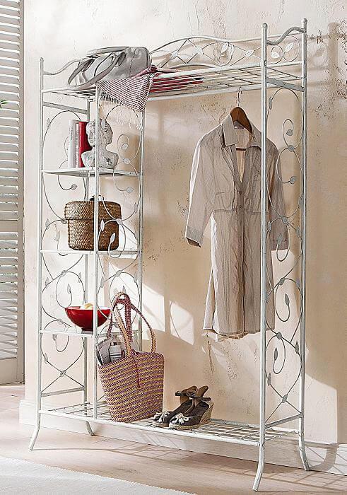 metallgarderobe home affaire landhaus look. Black Bedroom Furniture Sets. Home Design Ideas