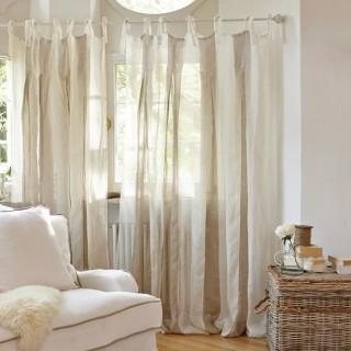 vorh nge landhaus look. Black Bedroom Furniture Sets. Home Design Ideas
