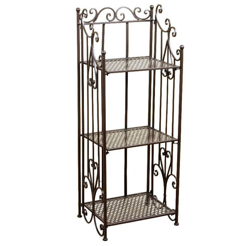 clayre eef klappregal metallregal rom metall antikbraun. Black Bedroom Furniture Sets. Home Design Ideas
