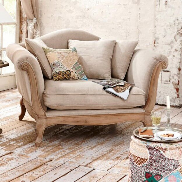 loveseat sessel sumerset landhaus look. Black Bedroom Furniture Sets. Home Design Ideas