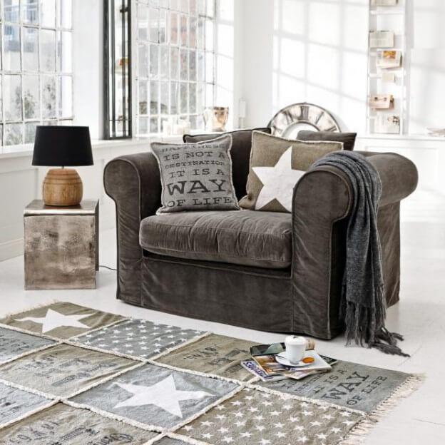 sofa new bedford landhaus look. Black Bedroom Furniture Sets. Home Design Ideas