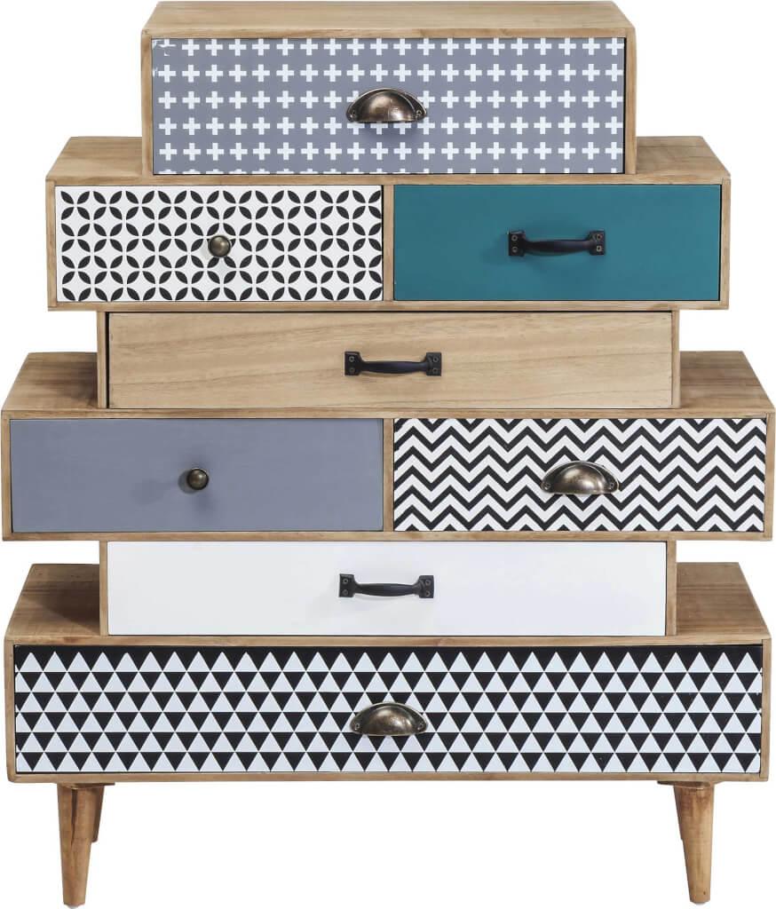 kommode capri 8 sch be landhaus look. Black Bedroom Furniture Sets. Home Design Ideas