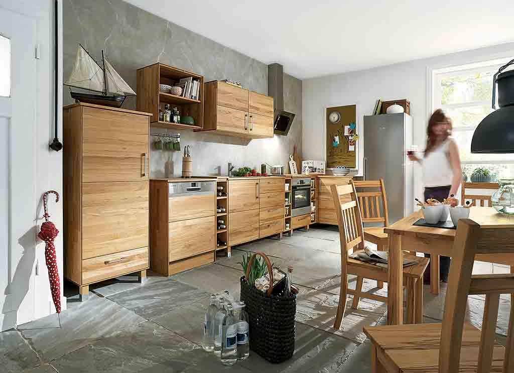 modulare k che im landhausstil landhaus look. Black Bedroom Furniture Sets. Home Design Ideas