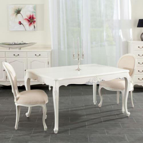 tisch dorothee 140 x 190 x90 creme wei landhaus look. Black Bedroom Furniture Sets. Home Design Ideas