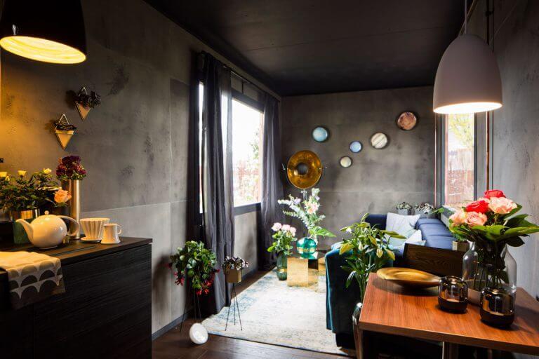 Wohnbereich-Schrebergarten-Deluxe-Gartenlaube
