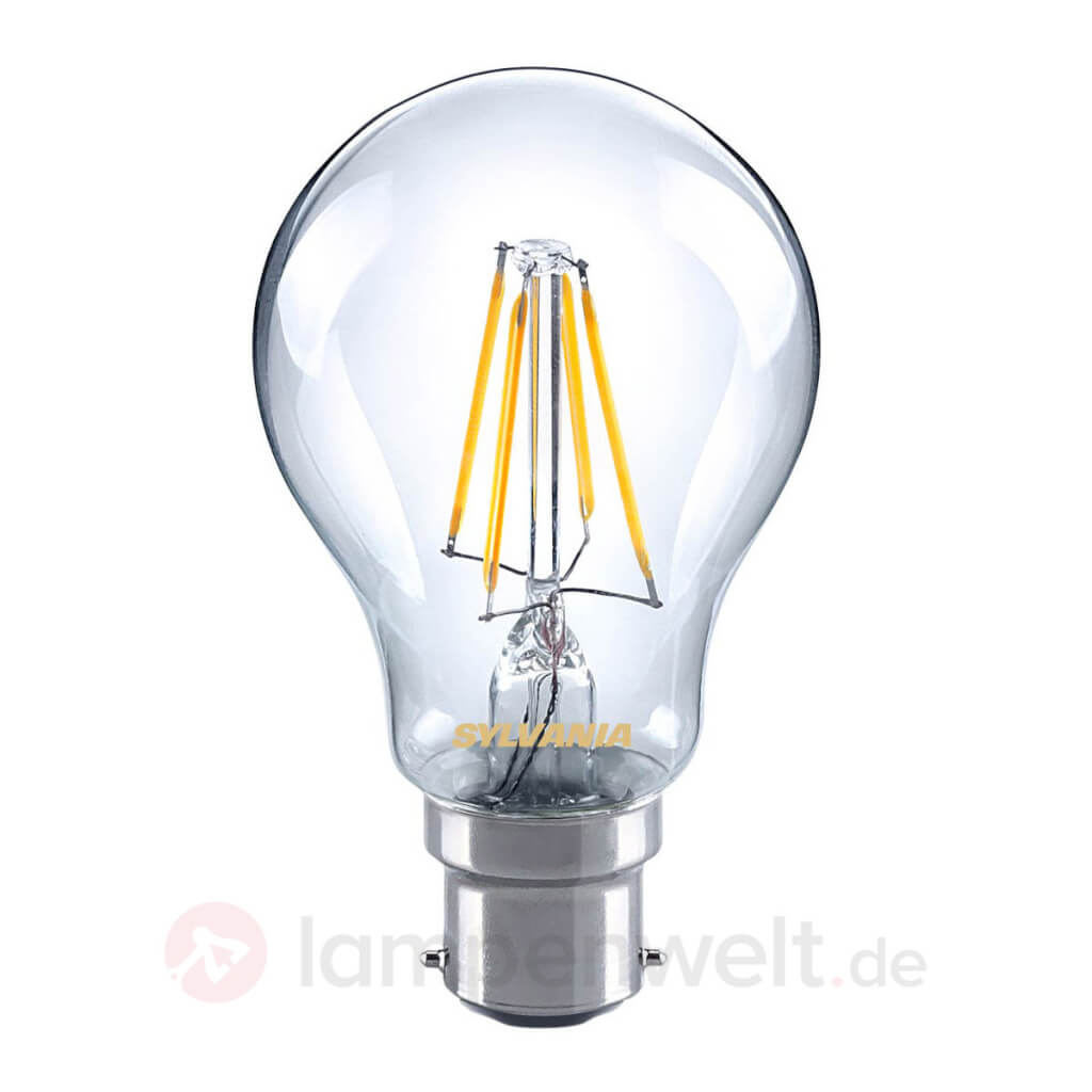 led filament lampe klar b22 4w 827 landhaus look. Black Bedroom Furniture Sets. Home Design Ideas