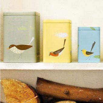 dosen birdy 3er set eckig landhaus look. Black Bedroom Furniture Sets. Home Design Ideas