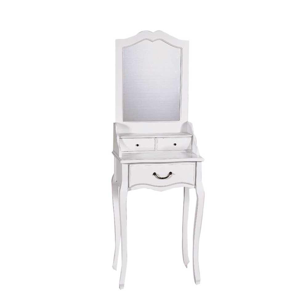 schminktisch im shabby chic design mit spiegel landhaus look. Black Bedroom Furniture Sets. Home Design Ideas