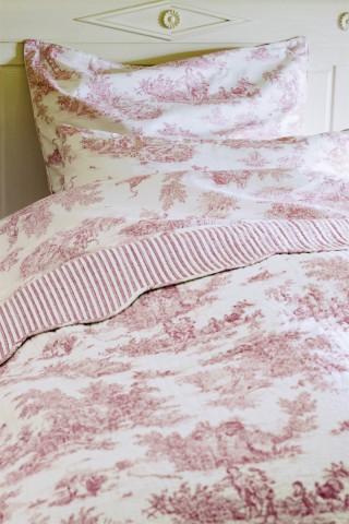 bettw sche toile de jouy rot my blog. Black Bedroom Furniture Sets. Home Design Ideas
