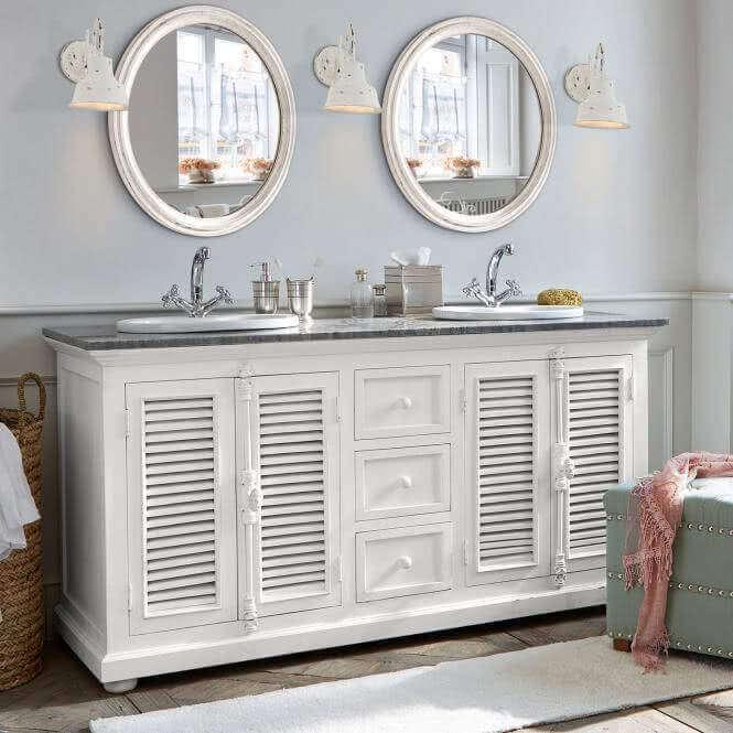 badezimmermobel weis antik, badmöbel & deko im landhausstil, Design ideen