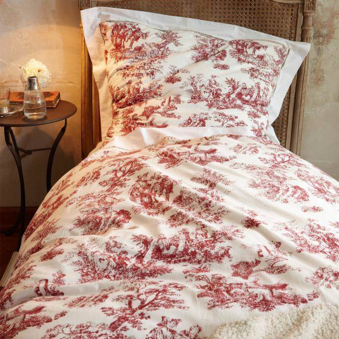 bettw sche toile rouge. Black Bedroom Furniture Sets. Home Design Ideas