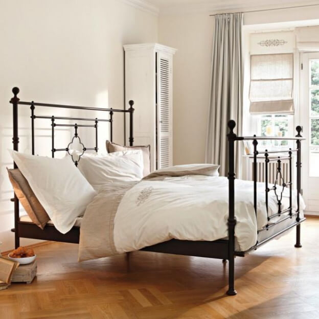 bett bel air landhaus look. Black Bedroom Furniture Sets. Home Design Ideas