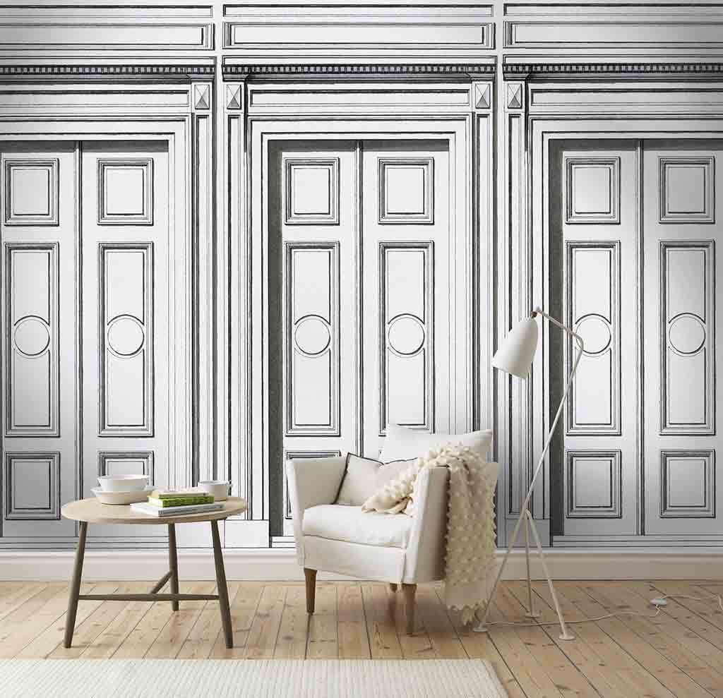musterhaft neue tapeten passend zum landhausstil. Black Bedroom Furniture Sets. Home Design Ideas