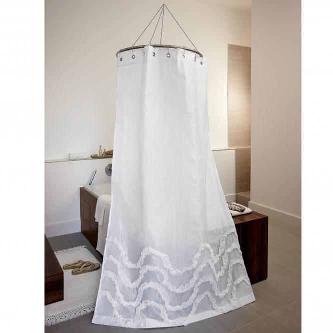 Wie richte ich ein badezimmer im landhausstil ein for Butlers duschvorhang