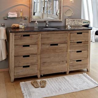 Badezimmermöbel landhausstil  Badmöbel & Deko - Landhaus Look