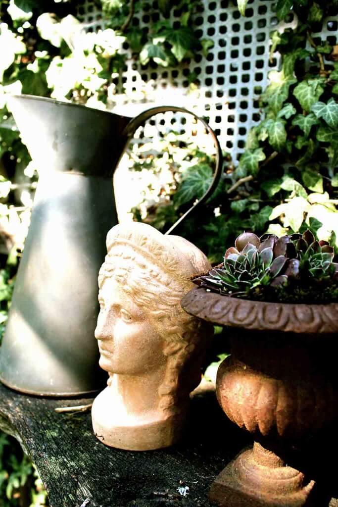 Garten Dekoration Im Landhausstil