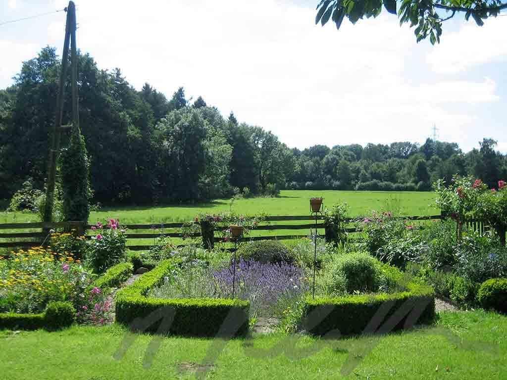 Cottage Garten mit freiem Blick über das Feld