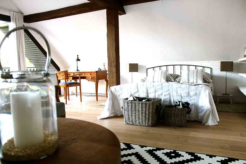 Schlafzimmer im Cottage