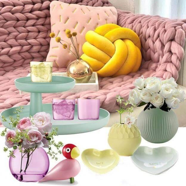 Designaccessoires in schönen Pastelltönen