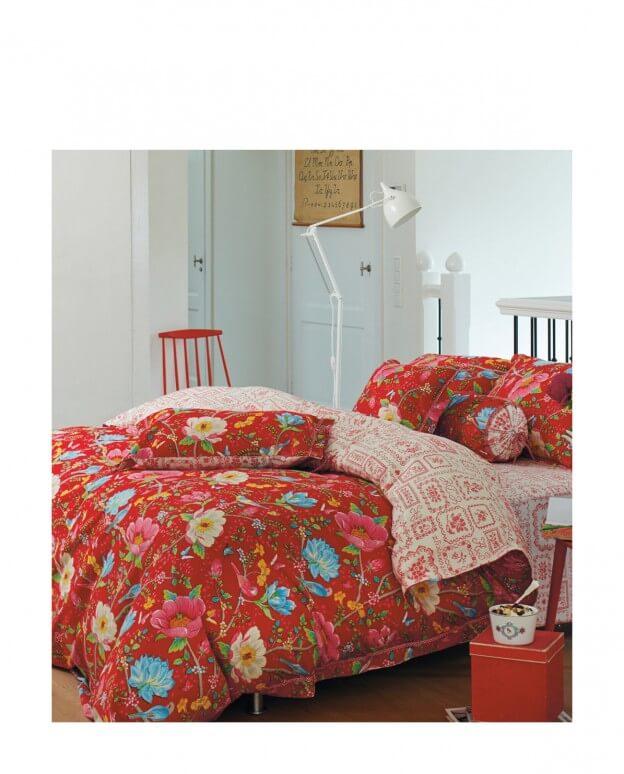 chinese garden bettw sche red one size landhaus look. Black Bedroom Furniture Sets. Home Design Ideas