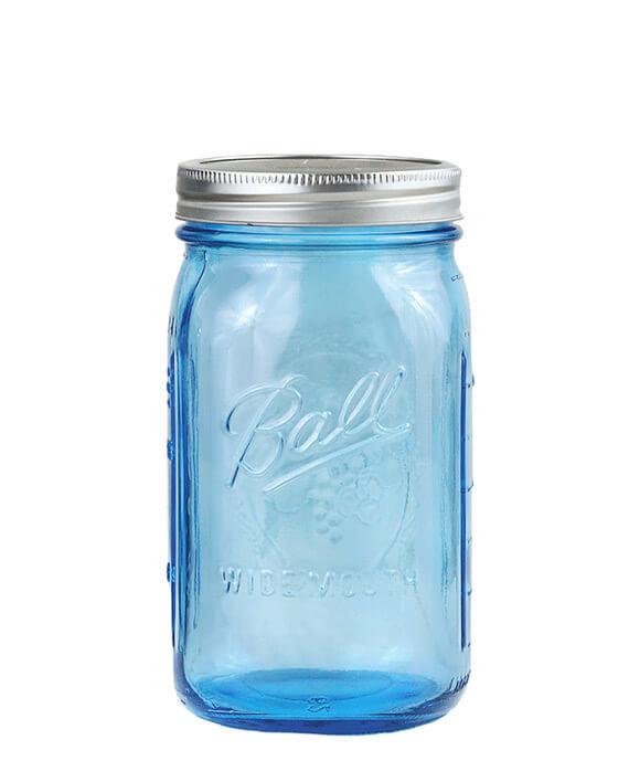 Glas XL blau von Ball Mason