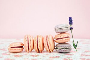 Macarons mit Lavendel