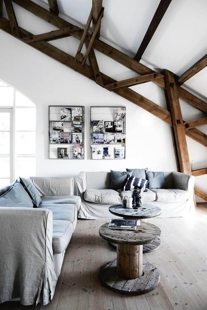 nordisch wohnen im industrial style landhaus look. Black Bedroom Furniture Sets. Home Design Ideas