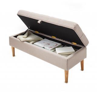 polster sitzbank mit fach landhaus look. Black Bedroom Furniture Sets. Home Design Ideas