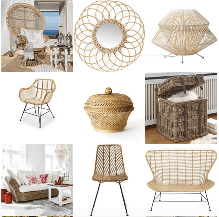 Rattan Möbel, Lampen, Sessel, Stühle, Tische