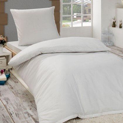 renforc uni bettw sche weiss 135x200 cm 80x80 cm. Black Bedroom Furniture Sets. Home Design Ideas