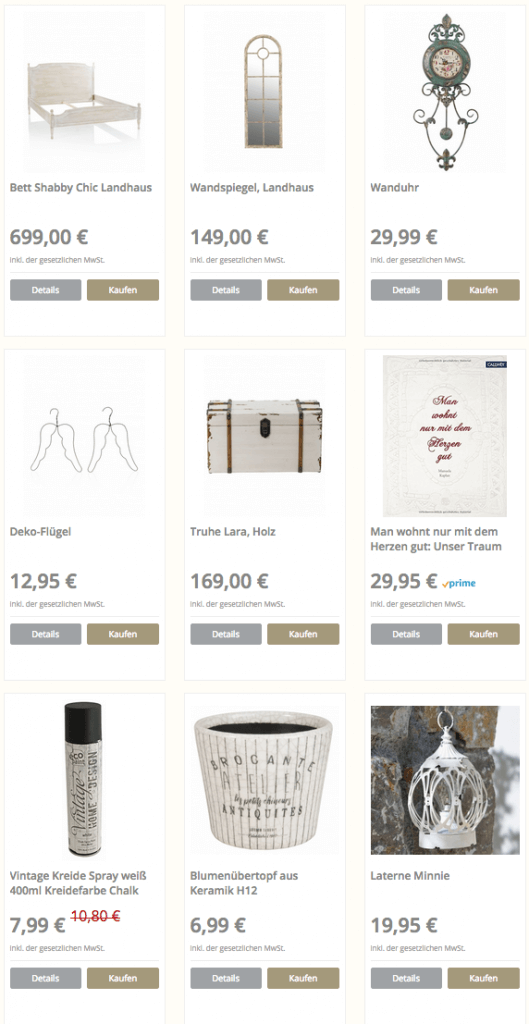 möbel und dekorationen im shabby chic und weißen landhausstil