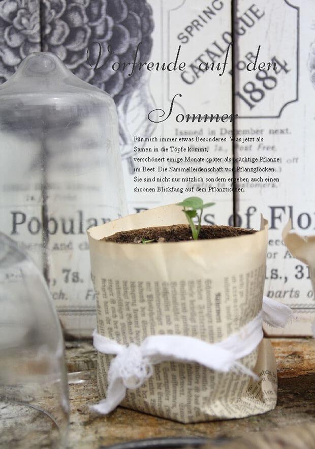Mein Shabby Garden - Pflanzenanzucht mit Pflanzglocken