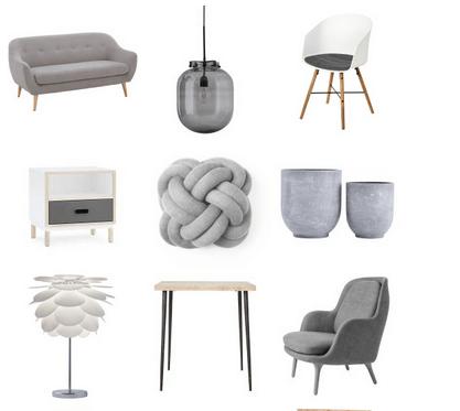 Moderner skandinavischer Landhausstil in Weiß & Grau
